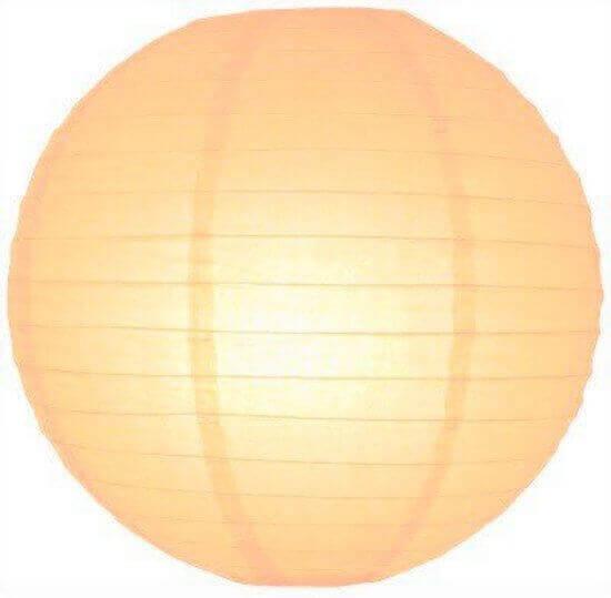 Perzik lampion 35 cm