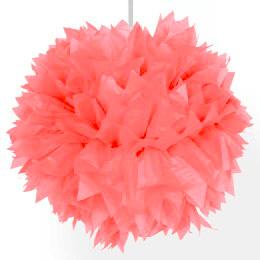 Pompon roze 20 cm