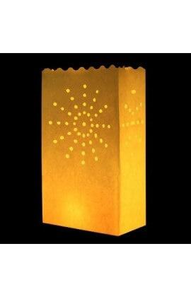 Gele candlebags Zon - 10 stuks