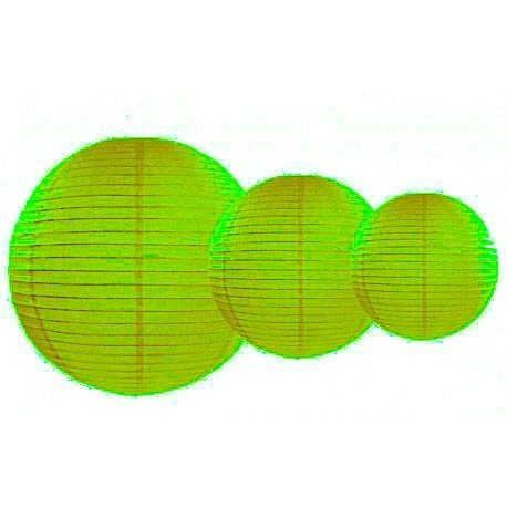 Lampionnen pakket 35 groene lampionnen