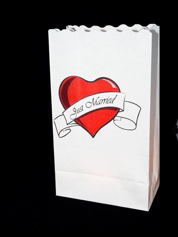 Candlebags Just Married 10 stuks OP=OP