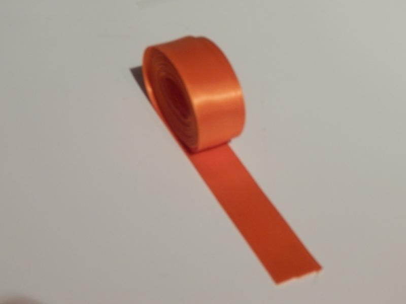 Satijnlint Oranje 25 mm.
