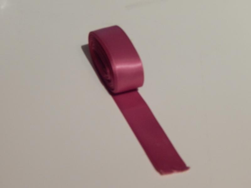 Satijnlint Donker roze 9 meter