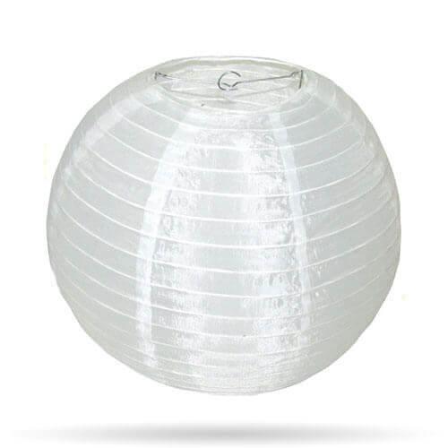 Nylon buiten lampion wit 20 cm