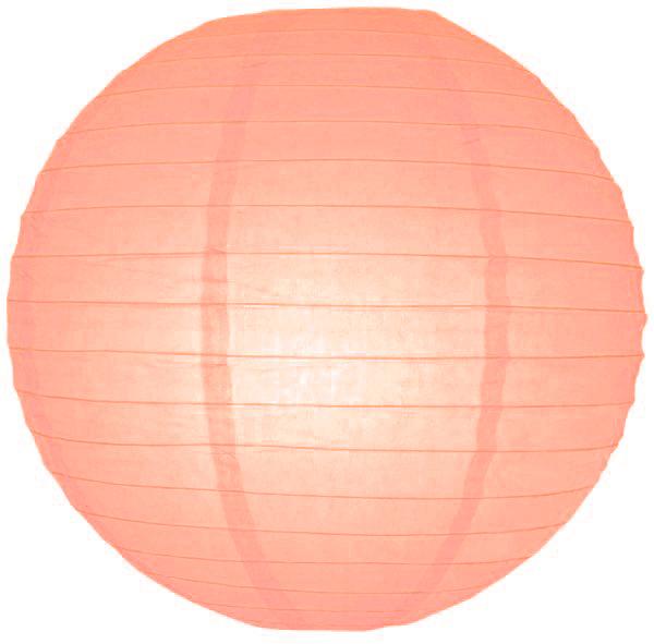 Zalm roze lampionnen 20 cm