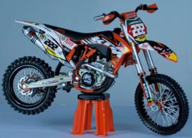 Miniatuur motor 1:6 KTM T. Cairoli (#222)