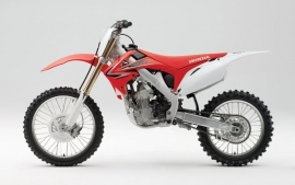 Miniatuur motor cross Honda 1:6