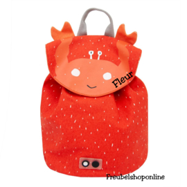 Trixie Mini rugzak - Mrs. Crab met naam