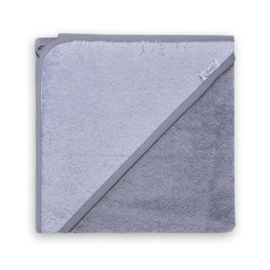 Badcape grijs met geborduurde naam / datum