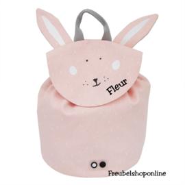 Trixie Mini rugzak - Mrs. Rabbit met naam