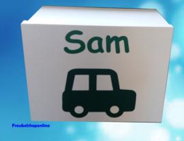 Geboortedoos auto met naam voor alle 1e herinneringen