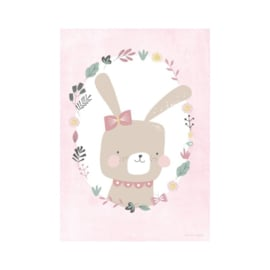 Little Dutch poster Rabbit Pink
