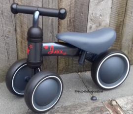 baby loopfiets / Vroombike met naam - Antraciet