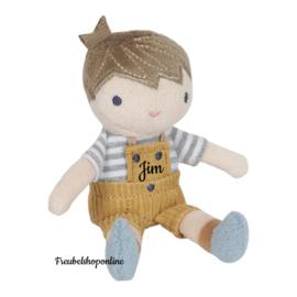 Little Dutch Knuffelpop Jim klein ( evt met naam )