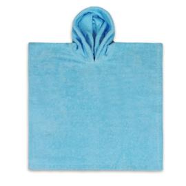 Poncho blue ( evt met geborduurde naam )
