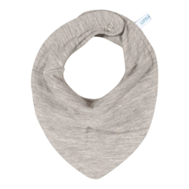 little dutch bandana slab pure grey ( evt met geborduurde naam )