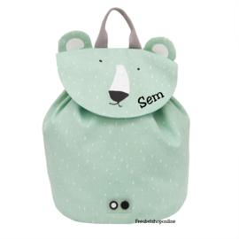 Trixie Mini rugzak - Mr. Polar Bear met naam
