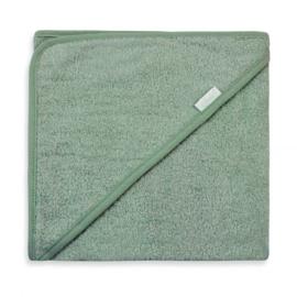 Badcape stone green ( evt.met geborduurde naam / datum)
