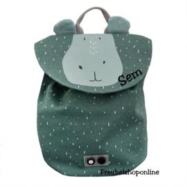 Trixie Mini rugzak - Mr. Hippo met naam