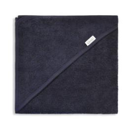 Badcape navy blue met geborduurde naam / datum