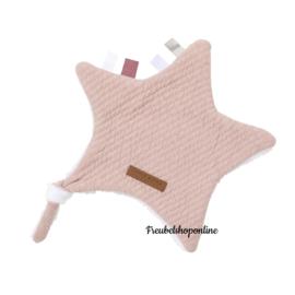 Little dutch knuffeldoek ster Pure Pink ( evt met geborduurde naam )