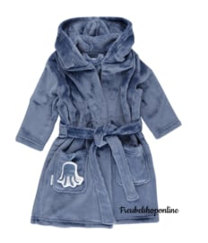 Little Dutch badjas ocean blue ( evt met geborduurde naam )