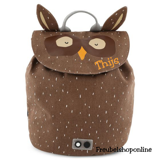 Trixie Mini rugzak - Mr. Owl met naam
