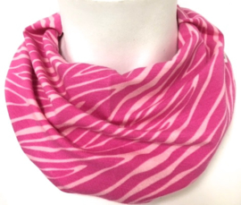 Hippe fuchsia en roze streep