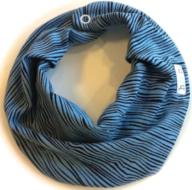 Blauw en zwarte streep