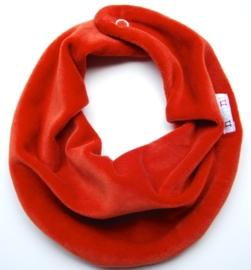Velours sjaaltje in warmorange