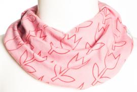 Roze sjaal met tulpen