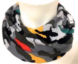 Kleurrijk camouflage slab