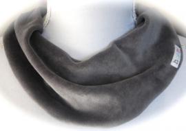 Grijs velours sjaal
