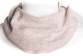 Beige gemêleerde sjaal