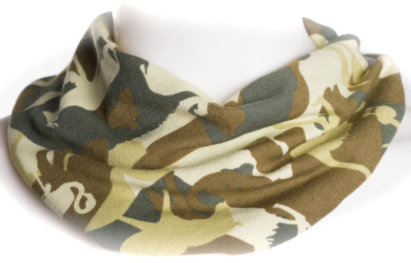 Groene camouflage sjaal