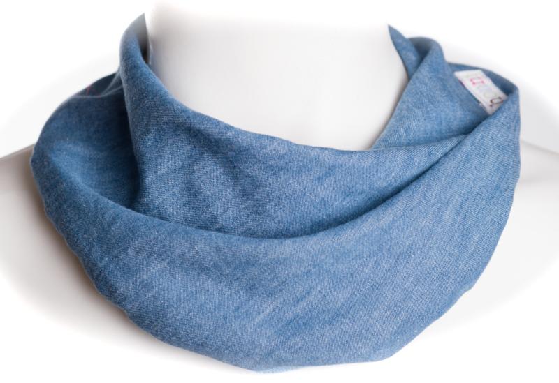 Lichte denim sjaal fijn structuur
