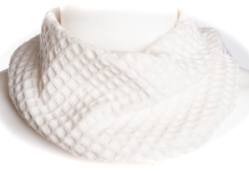 Offwhite wafel sjaal