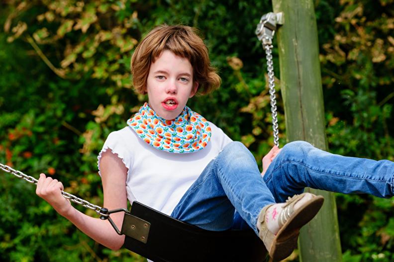 Slabben voor gehandicapten kinderen