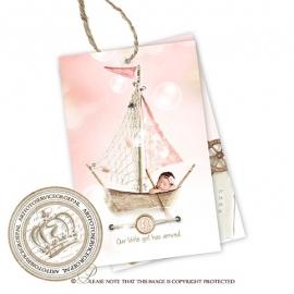 Geboortekaartje Label GBL194 Pink