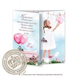 Sprookjes Geboortekaartje GB131 DD Pink
