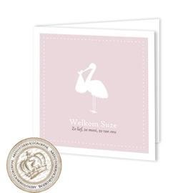 Geboortekaartje LC844 FC2 Pink