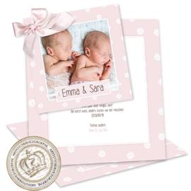 Foto Geboortekaartje LG395 Pink