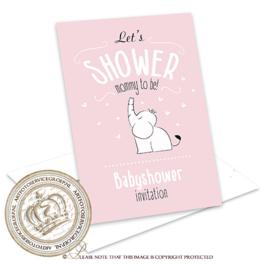 Fill & Send Babyshower uitnodigingen FBS001 (pakket 8 stuks)