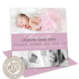 Foto Geboortekaartje LG712 Pink