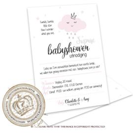 Babyshower kaart BS001