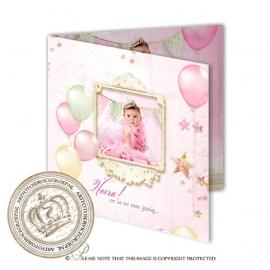 Verjaardag Uitnodiging BC411 FC2 Girl