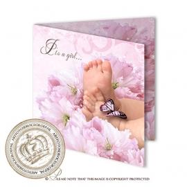 Sprookjes Geboortekaartje GB878 FC2 Pink