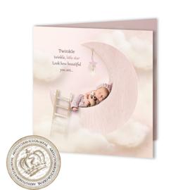 Sprookjes Geboortekaartje GB958 FC2 Pink