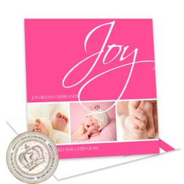 Foto Geboortekaartje LG226 Pink