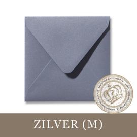 Parelmoer envelop - Zilver